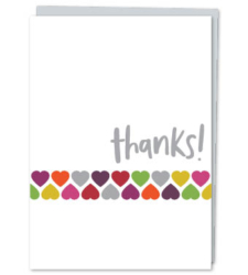 "Design with Heart Studio - Greeting Cards ""Thanks!"" (With Verse)"