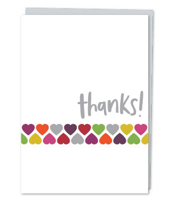 "Design with Heart Studio - Greeting Cards - ""Thanks!"" (With Verse)"