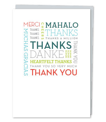Design with Heart Studio - Greeting Cards - Thank You Word Cloud (With Verse)