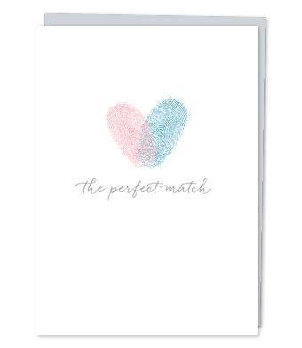 "Design with Heart Studio - Greeting Cards - ""the perfect match"" (With Verse)"