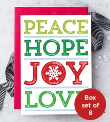 Design with Heart Studio - New - Peace Hope Love Joy Box Set