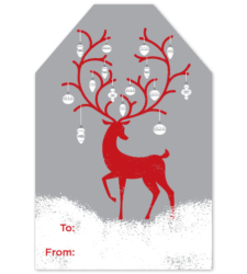 Design with Heart Studio - New - Reindeer with Ornaments Gift Tags