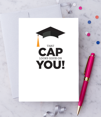 Design with Heart Studio - Greeting Cards - That Cap Looks Good On You