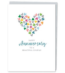 Design with Heart Studio - Greeting Cards Happy Anniversary to a Beautiful Couple