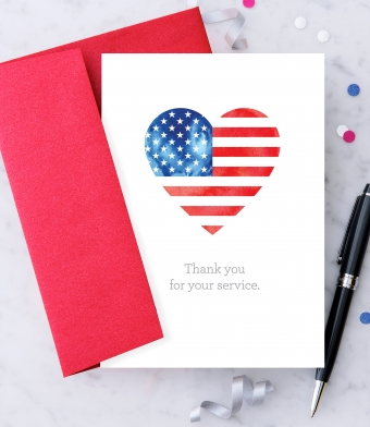 Design with Heart Studio - Greeting Cards - Thank you for your service.