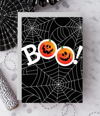 Design with Heart Studio - Greeting Cards - Boo!