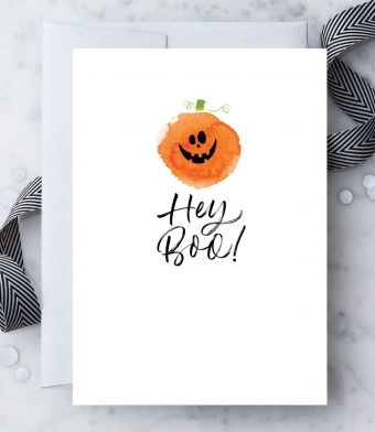 Design with Heart Studio - Greeting Cards - Hey Boo!