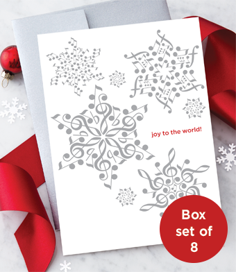 Design with Heart Studio - Holiday - Musical Note Snowflakes Box Set