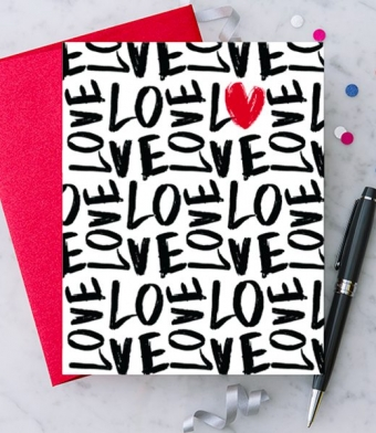 Design with Heart Studio - Greeting Cards - Handwritten Love