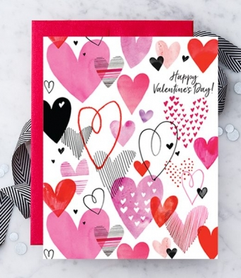 Design with Heart Studio - Greeting Cards - Happy Valentine's Day Hearts