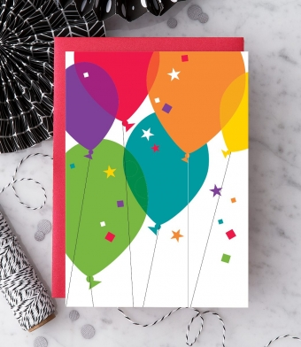 Design with Heart Studio - Greeting Cards - Birthday Balloons (With Verse)