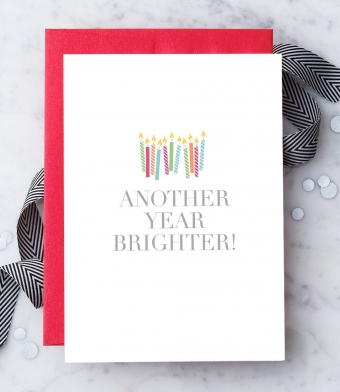 "Design with Heart Studio - Greeting Cards - ""Another Year Brighter!"""