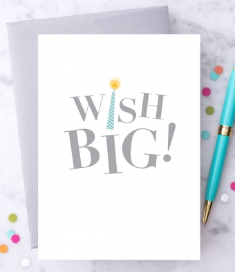"Design with Heart Studio - Greeting Cards - ""Wish Big!"""