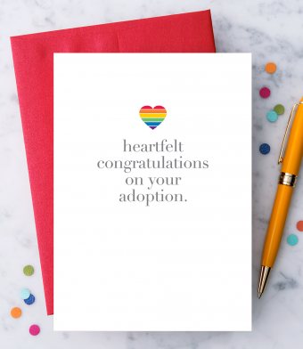 """Design with Heart Studio - Greeting Cards - """"Heartfelt congratulations on your adoption"""""""