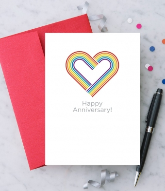 """Design with Heart Studio - Greeting Cards - """"Happy Anniversary!"""""""
