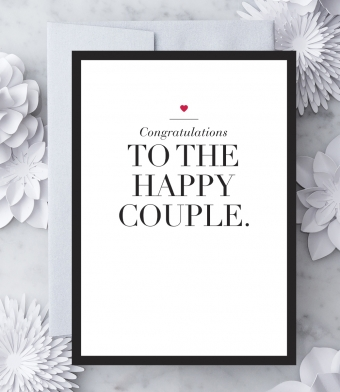"""Design with Heart Studio - Greeting Cards - """"Congratulations to the Happy Couple"""""""
