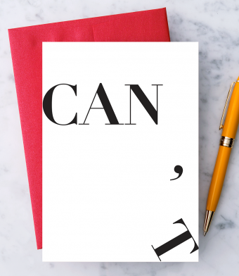 "Design with Heart Studio - Greeting Cards - ""Can't / Can."""