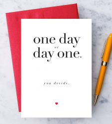 Design with Heart Studio - New - One Day or Day One. You decide.