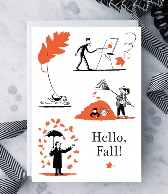 Design with Heart Studio - Greeting Cards - Hello, Fall!