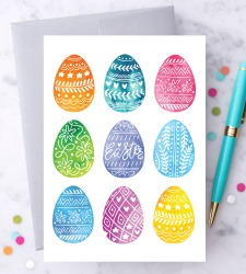 Design with Heart Studio - New - Decorated Easter Eggs