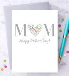 Design with Heart Studio - New - Musical Notes – Happy Mother's Day Greeting Card